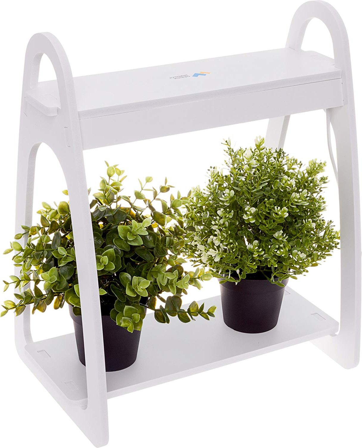 Mindful Design LED Mini Indoor Herb Garden - Home Counter Top Herbs/Vegetable Planter (White) by Mindful Design