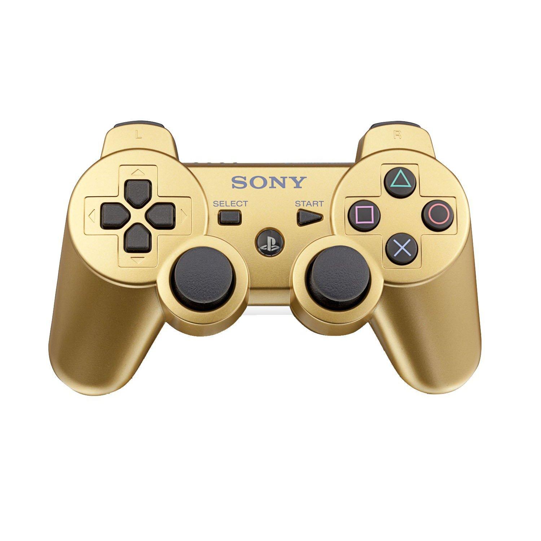 Sony metálico oro nueva PS3 Dual Shock DualShock 3 Wireless Bluetooth controlador: Amazon.es: Videojuegos