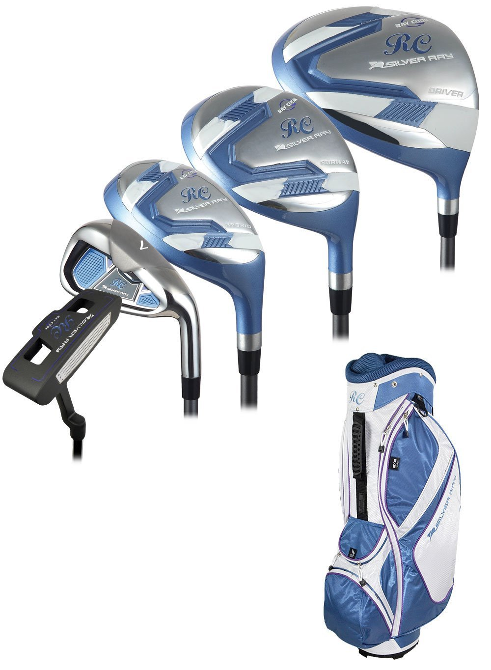 Ray Cook Golf Women's Petite Silver Ray Complete Set with Bag [並行輸入品]   B06ZZL3RBN