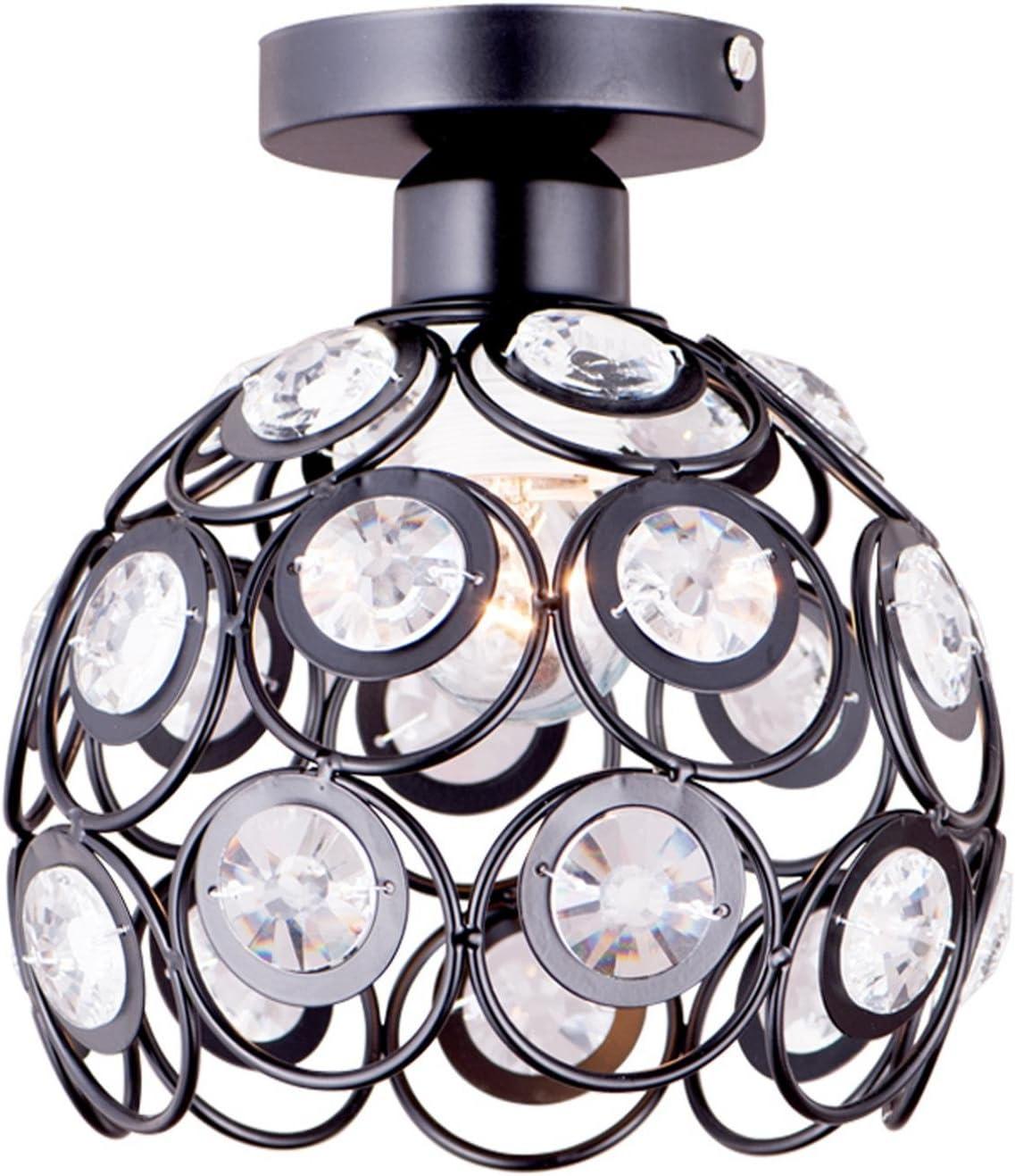 AMZH Loft Vintage luz de Techo Negro Lámpara de Techo de Hierro Forjado K9 5w AC85-265V para lámpara de Corredor lámpara de Cocina balcón