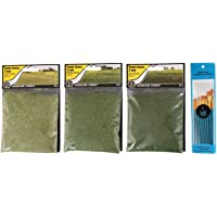 Woodland Scenics Static Grass, Light Green, Medium Green, and Dark Green, 4mm (Pack of 3) - with Spice of Life…