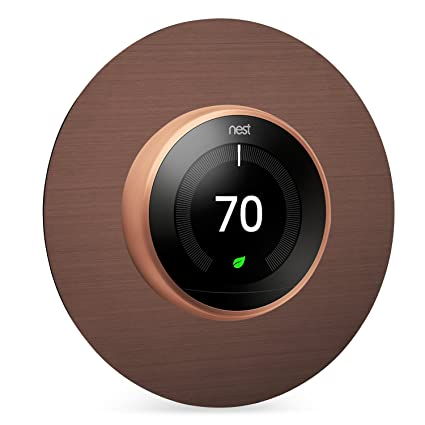 """Bonita cubierta circular para pared de 6"""" en acero inoxidable para termostato Nest de 2ª"""