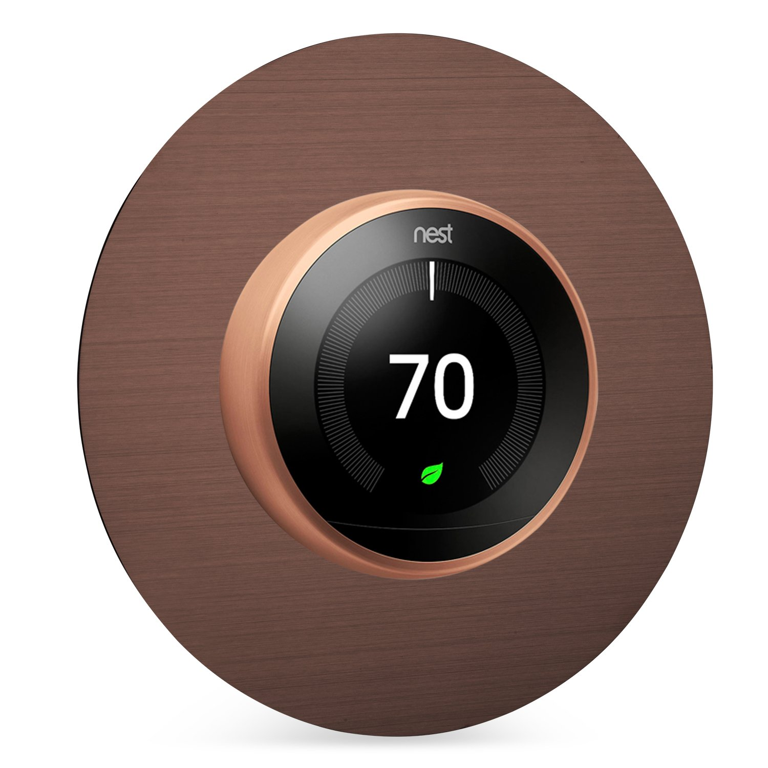 Beautiful Round 6'' Wall Plate Cover for all 2nd and 3rd Generation Nest Thermostat by Wasserstein (Copper)