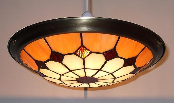 Lighting web co plafoniera vintage in vetro stile bistrò cm