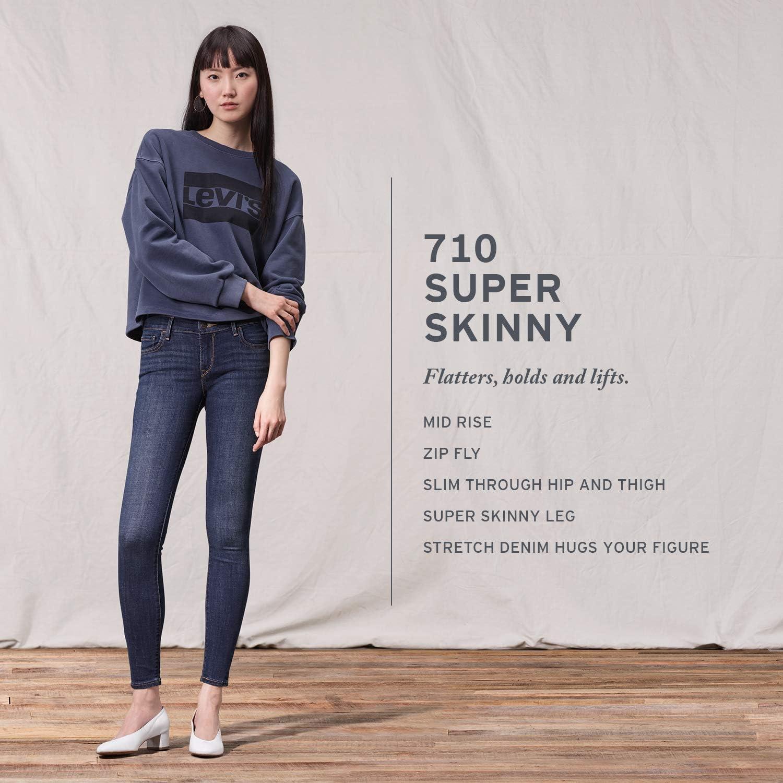Levi's womens710 Super Skinny Jeans Jeans New Retro