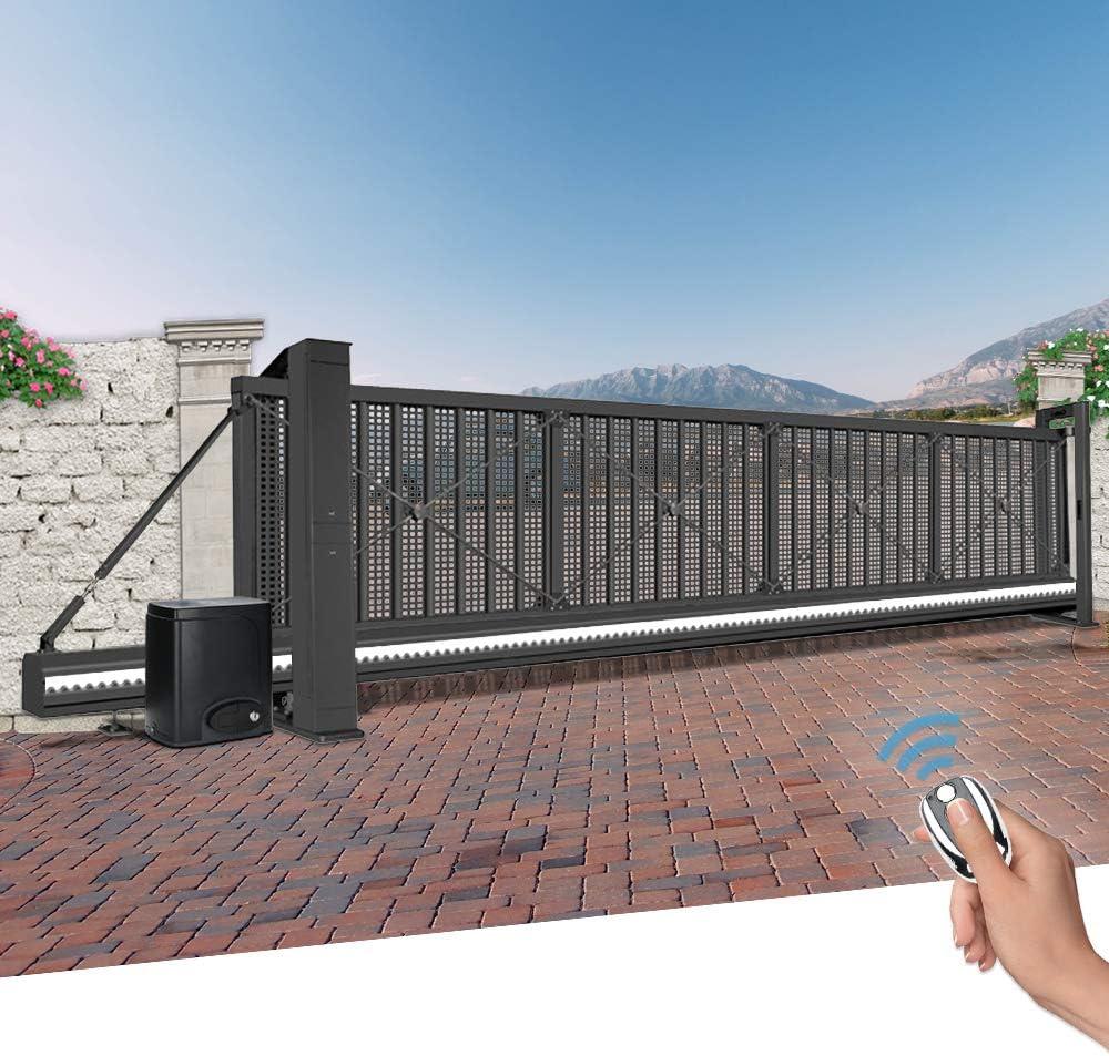 Karpal Abridor de Puerta Corredera de puerta corredera para puerta de hasta 600kg Motor para Puerta Abridor Operador de Puertas con Controles Remotos