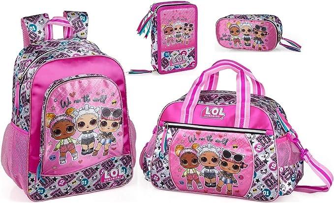 LOL Surprise - Mochila de deporte, estuche y estuche para niñas, mochila escolar, estuche para lápices, bolsa para lápices y muñecas: Amazon.es: Ropa y accesorios