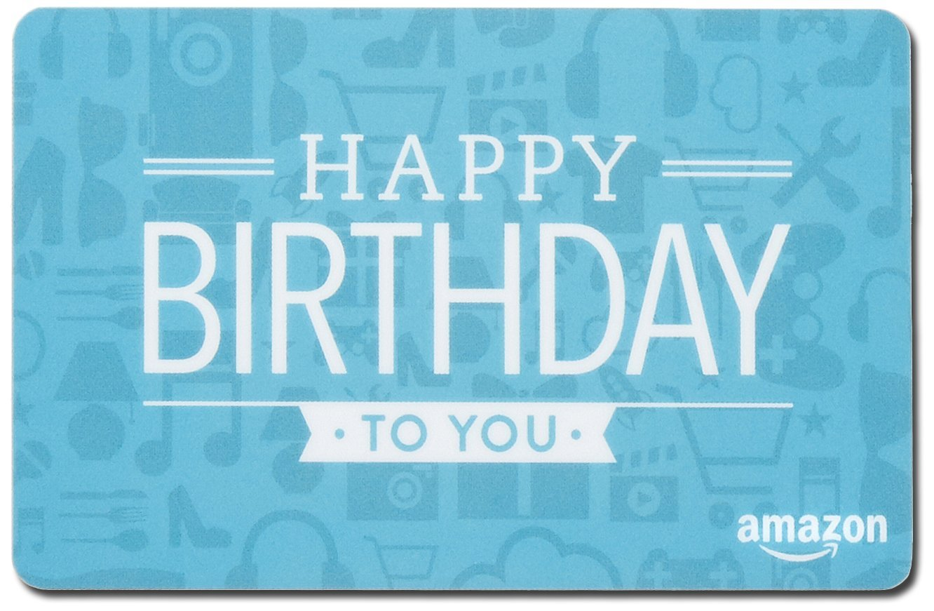 Amazon Gift Card In A Mini Shipping Box Birthday Icons Design Cards
