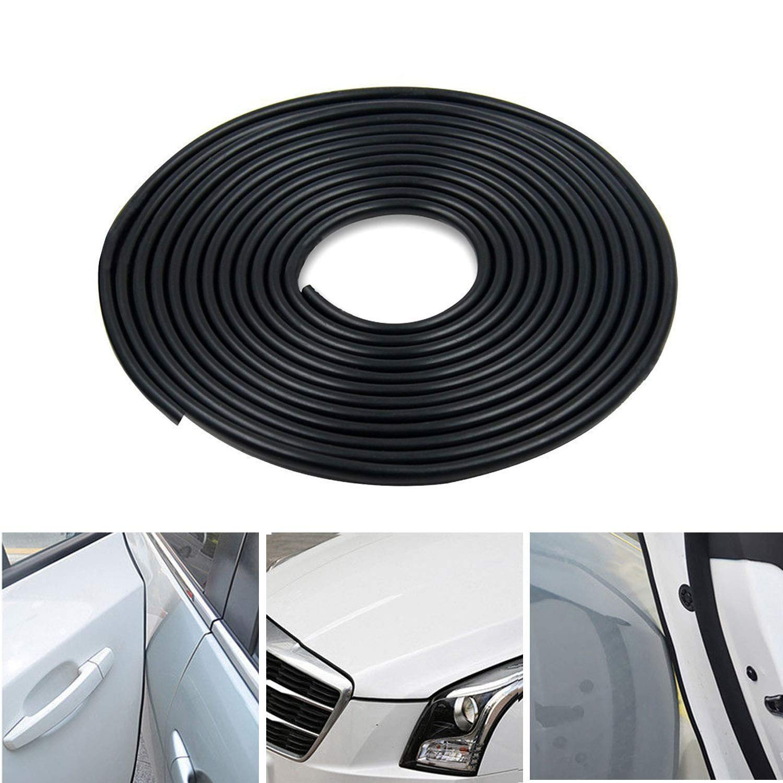 Cicmod Car Door Edge Guards 16ft 5m U Shape Trim Rubber Seal Protector Strip For Suv Truck Van