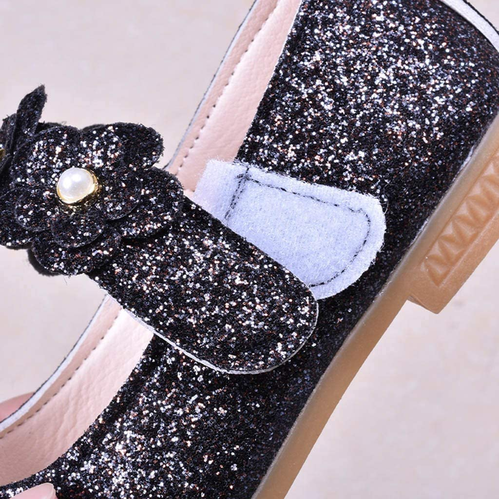 Children Kids Baby Girls Solid Flower Student Single Dance Princess Shoes US