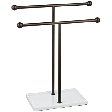 AmazonBasics Double-T Hand Towel and Accessories Stand