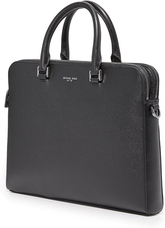 Michael Kors sac porte-documents homme en cuir harrison noir ...