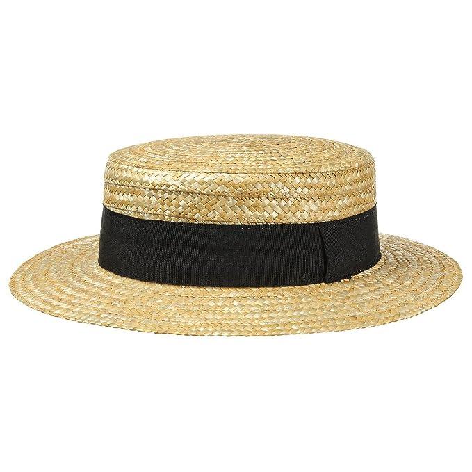 Lipodo Sombrero de Paja Canotier Mujer Hombre  8416a11d421