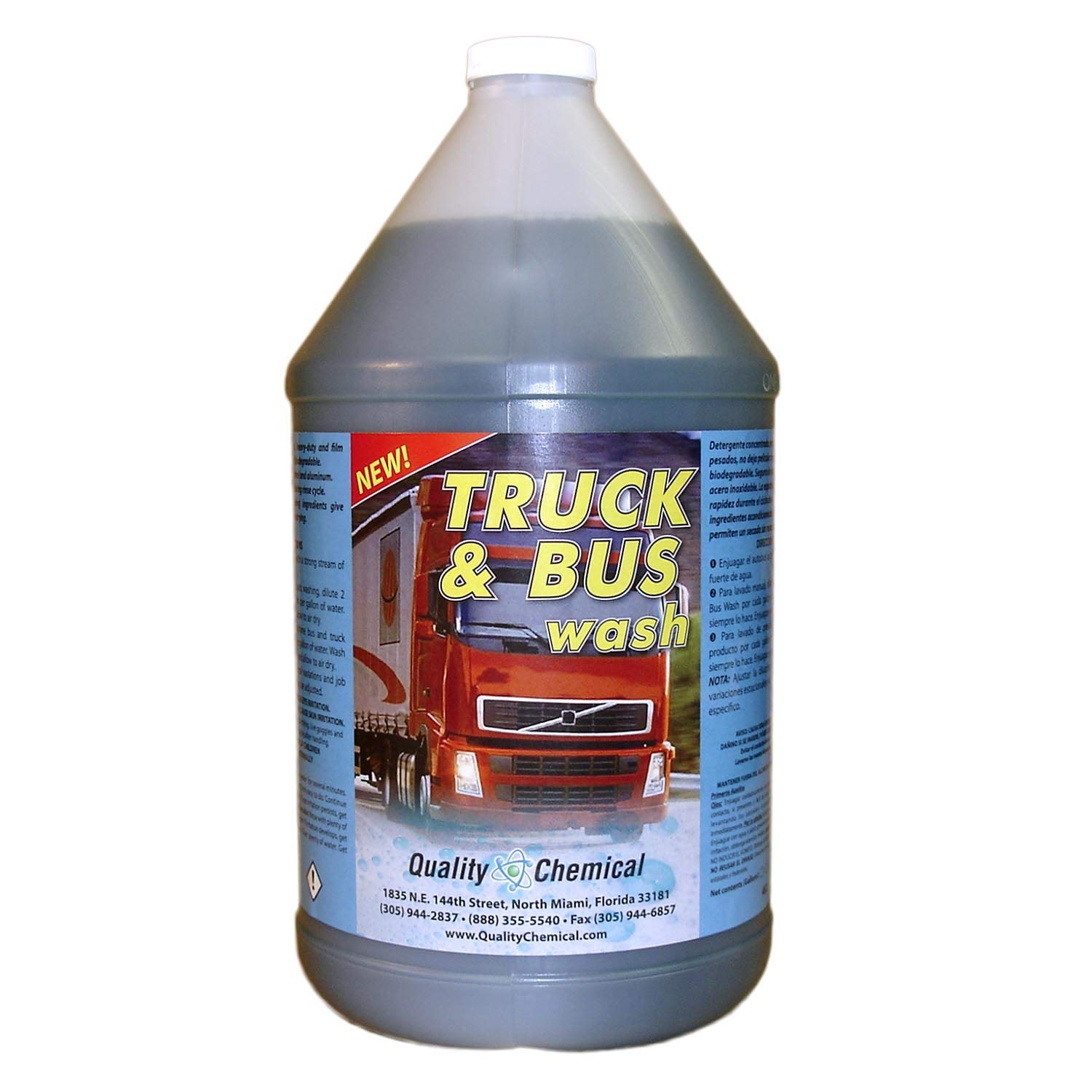 Truck & Bus Wash: Heavy-duty industrial strength, super-foaming, grease-cutting cleaner and degreaser-1 gallon (128 oz.) by Quality Chemical