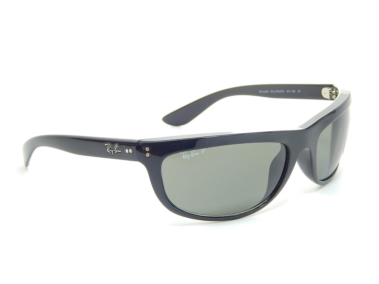 9f8741e988 Amazon.com  Ray Ban Balorama RB4089 601 58 Black  Crystal Green 62mm  Polarized Sunglasses  Clothing