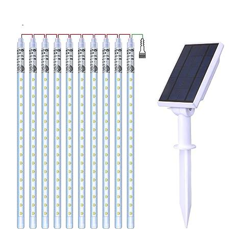 hctesco LED paraguas Cadena de densidad de agua energía solar luces jardín Luces Decoración de Cuerda