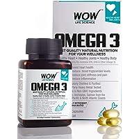 WOW Omega-3 Fish Oil Triple Strength 1000mg (550mg EPA, 350mg DHA, 100mg Other Omega 3 Fatty Acids) - 60 Capsules