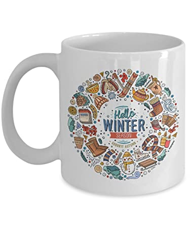 Exceptionnel Hello Winter Season Cup   Perfect For Holiday Season Gift Mug Bring Joy To  Your Coffee