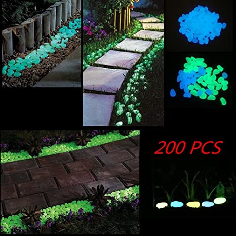 Goldflower 200pcs Glow In The Dark Garden Ciottoli Per Vialetti E