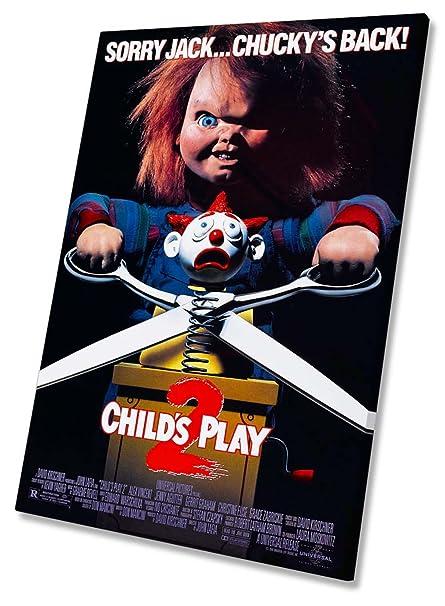 Chucky Childs Play Póster de la película Lienzo enmarcado impresión ...