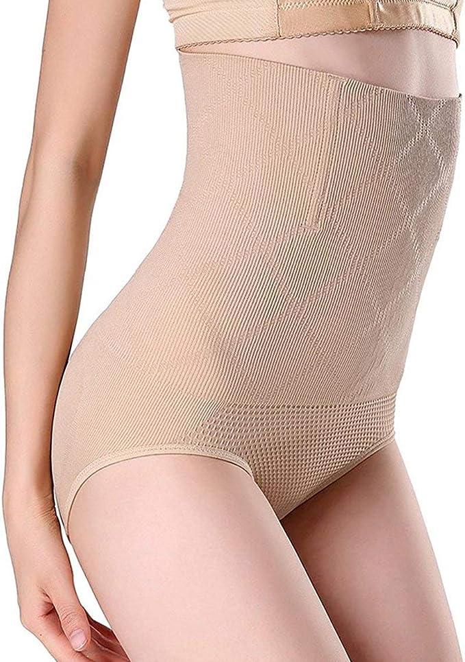 Imagen deSixyotie Mujer Lencería Moldeadora Bragas Cintura Alta sin Costuras Reductora Postparto Braguitas Shapewear Body Shaper Panty