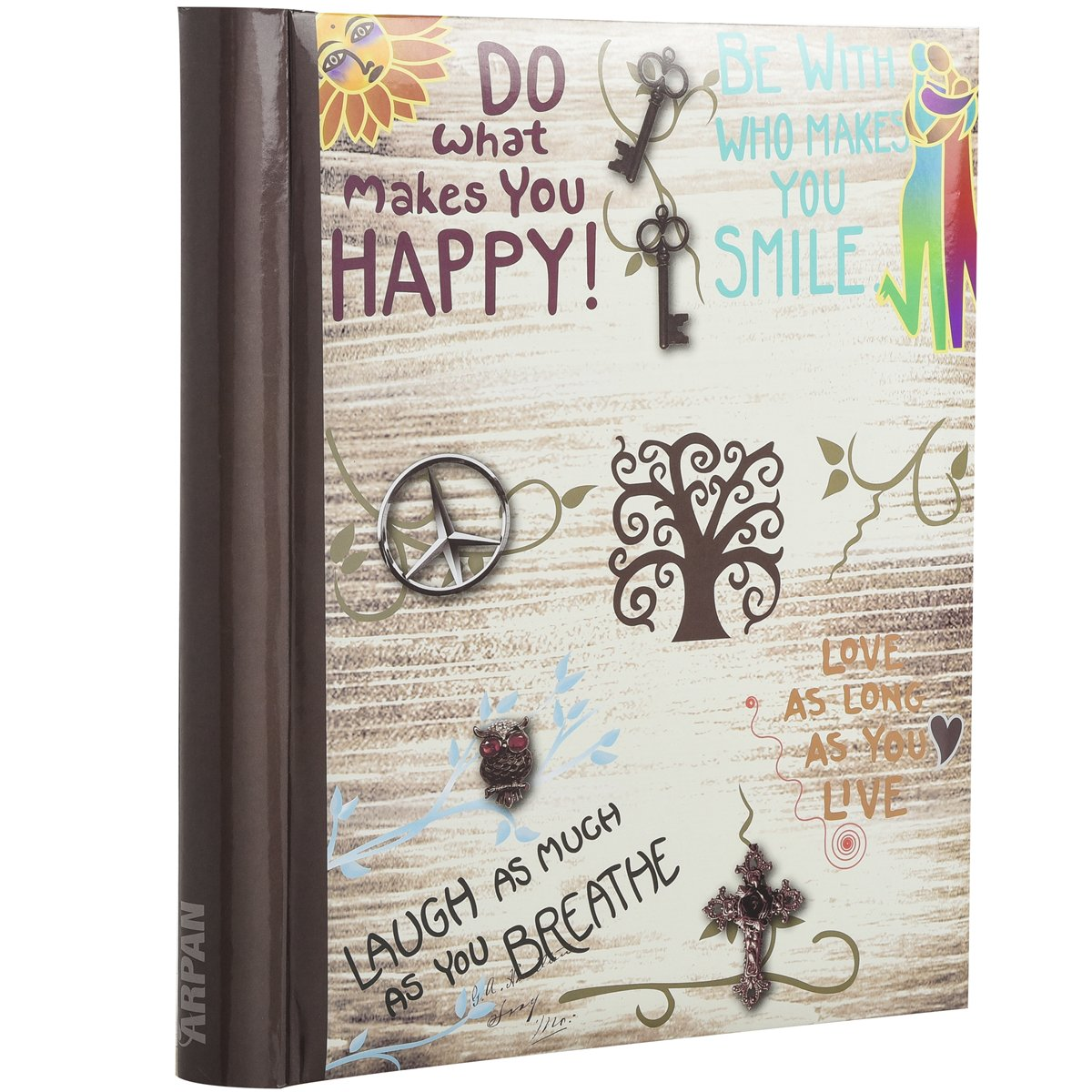 Arpan Large Self-Adhesive Magnetic Page Photo Albums - Life inspirational slogans Photo Album x 1