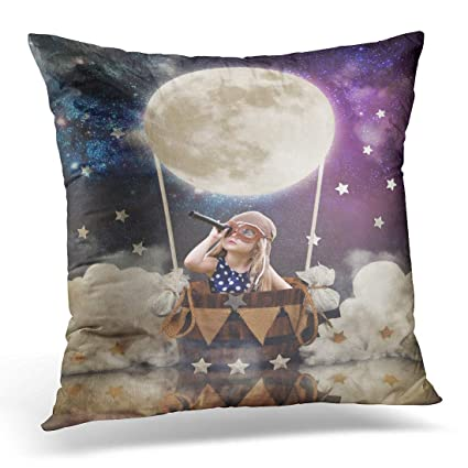 Amazon Sdamase Throw Pillow Cover Little Girl Is Sitting In Hot Delectable Little Girl Decorative Pillows