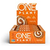 ONE PLANT Protein Bars, Carrot Cake, Gluten Free Protein Bars with 12g Protein & Only 1g Sugar, Guilt-Free Snacking for High Protein Diets, 1.59 Oz (12 Pack)