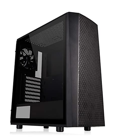 Thermaltake Versa J24 TG - Caja Gaming para PC, Color Negro