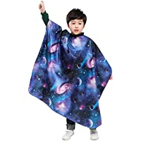 Kids Haircut Barber Cape Cover for Hair Cutting,Styling and Shampoo - Space Starry Sky Printing