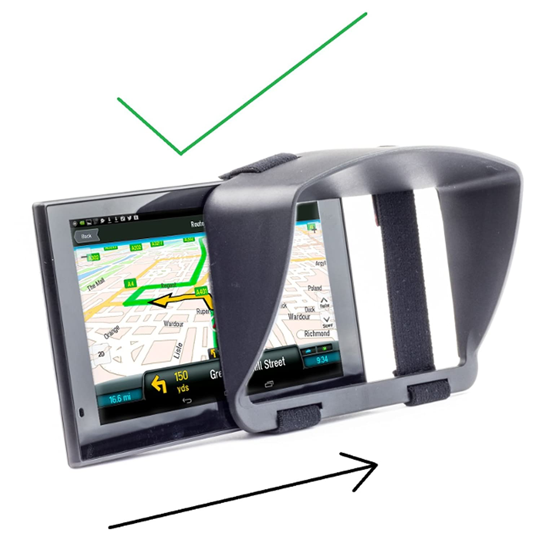 Digicharge Pare-Soleil /& Nuit Anti Reflet pour Tomtom GO Premium 6 Essential 6 Basic 6200 620 6250 Professional Start 62 Via 62 Trucker Camper Sat Nav GPS