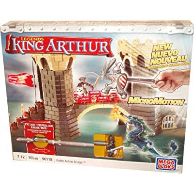 Mega Bloks King Arthur Battle Action Bridge Play Set: Toys & Games