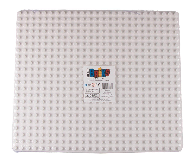 Strictly Briks 16,25 x 13,75 nur f/ür Steine mit gro/ßen Noppen geeignet kompatibel mit Bausteinen Aller f/ührenden Marken - Grau Stapelbare Premium-Bauplatte 41,3 x 34,9 cm
