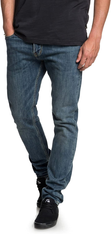 Quiksilver Mens Distorsion Medium Blue Denim Jean Pants