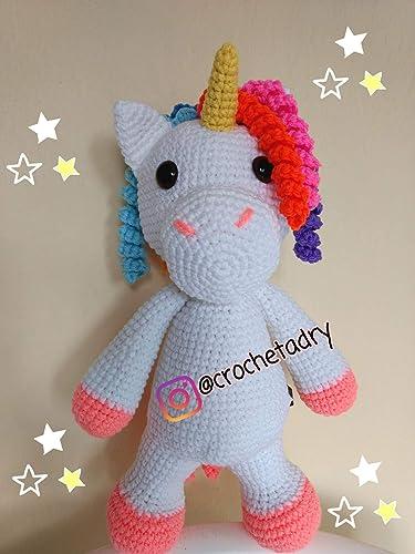 Unicornio de crochet, amigurumi, unicornio, unicornio amigurumi ... | 500x375