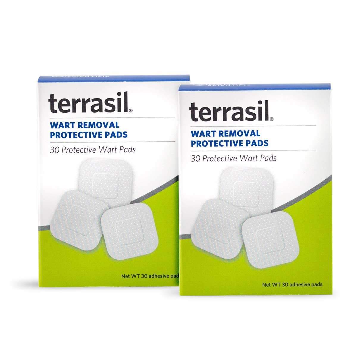 Permanent Wart Remover Pads - Slow Safe Gentle Alternative for Sensitive Skin Dr Recommended Guaranteed All Natural Pain Free Salicylic Acid Free Patented for Plantar Genital Facial by Terrasil by Aidance Skincare & Topical Solutions