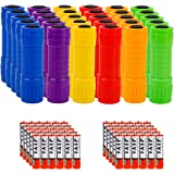 Whaply Small Mini Flashlights Pack of 30,Assorted Colors,New Type Cob Light,With Battery