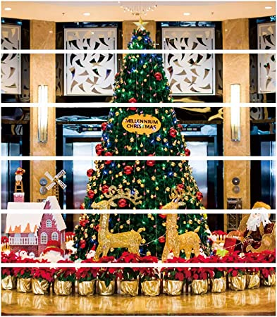 Amosfun 3D Árbol de Navidad Escaleras Pegatina Autoadhesivo Sin desvanecimiento Escaleras Pegatinas Escalera Riser Calcomanías para la Navidad Decoración del Hogar: Amazon.es: Hogar