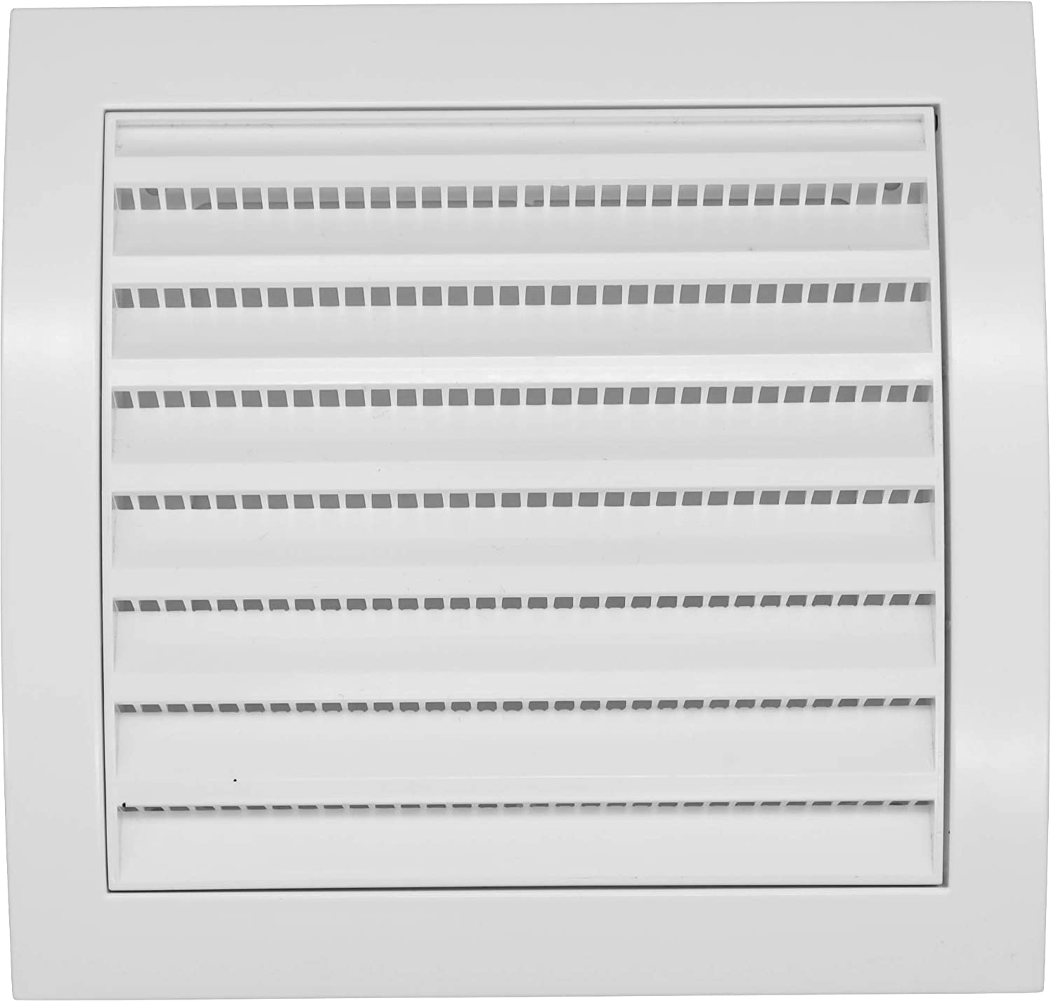 Vent Systems 4'' Inch Air Vent Cover Dryer Vents and Bathroom Exhaust Vents Pipe, White Louvered Outdoor Dryer Vent Cover Opening Flap Vent Keeps Out Insects, Birds and Rodents