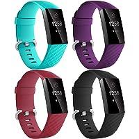 Dirrelo Bransoletka kompatybilna z Fitbit Charge 3 / Fitbit Charge 4 dla kobiet i mężczyzn, 4 sztuki, wodoszczelna…