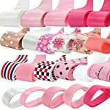 Imported Phenovo Grosgrain Ribbon Mixed Pattern for Crafts DIY 22pcs Multi-color-15013109MG
