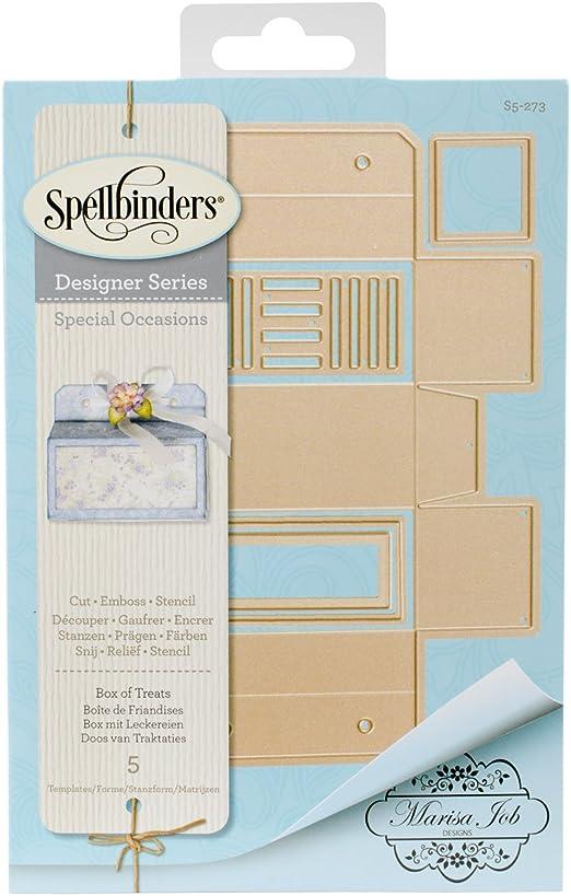 Spellbinders – Troquel de Caja de Dulces, Color marrón: Amazon.es ...