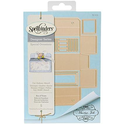 Spellbinders – Troquel de Caja de Dulces, Color marrón