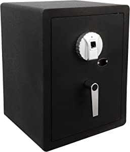 GOLVAL FS-50 Home Steel Security Safe Box, Biometric Fingerprint Quick-Access Safe, 1.58 Cubic Feet