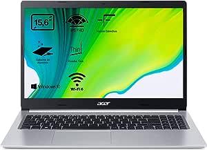 "Acer Aspire 5 - Portátil 15.6"" FullHD (Intel Core i5-1035G1, 16GB RAM, 512GB SSD, UMA Graphics, Windows 10 Home), Color Plata - Teclado QWERTY Español"