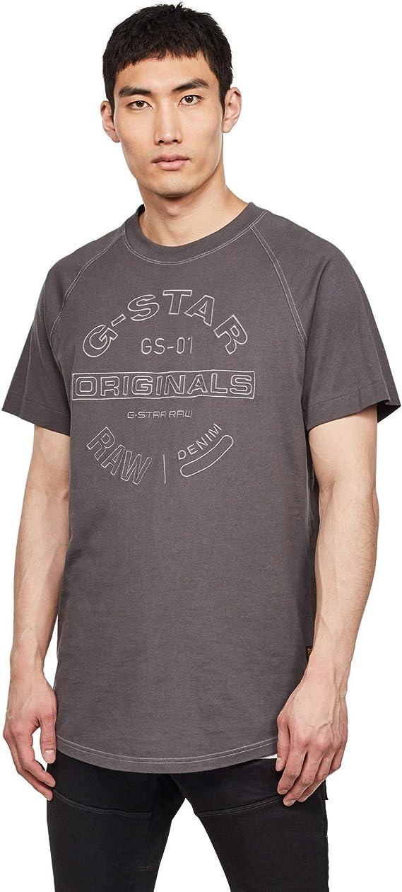 TALLA L. G-STAR RAW Round Originals Graphic Straight Camiseta para Hombre
