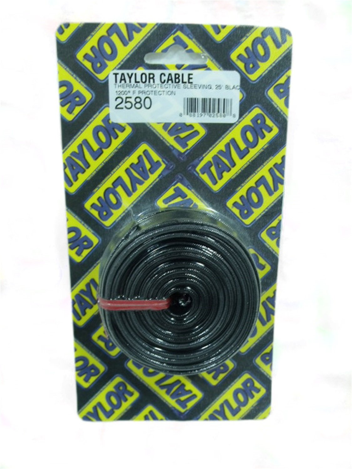 Taylor 2580 Black Thermal Protective Sleeving Automotive Spark Plug Wiring Harness