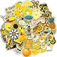 Stickers for Water Bottles Big 50 Pack Yellow Laptop Stickers Cute Waterproof Aesthetic Trendy Gifts for Teens Waterbottle Girls Boys Kids. (50 PCS)