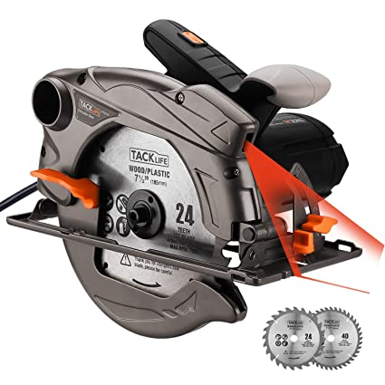 Tacklife 7 14 circular saw with laser guide extra 40t blade tacklife 7 14quot circular saw with laser guide extra 40t blade greentooth Images