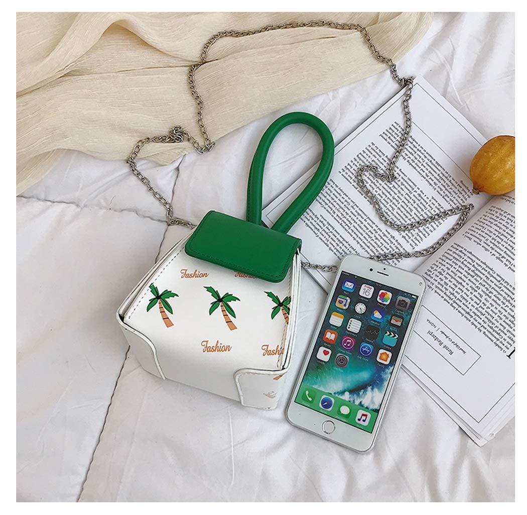 OUSHINA New 2019 Summer Fashion Shoulder Bag Tweezers Bag Chain Wild Messenger Bag Color : Green, Size : 13.5141110cm